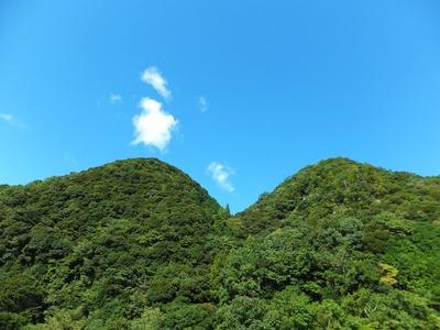 青い空と緑の山も素晴らしい