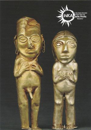 金合金製の小型人物像