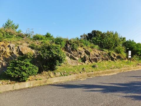 26・手前の尾根道に縦断された小塚古墳