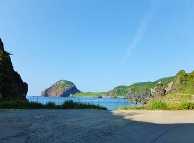 岬の突端、大野亀