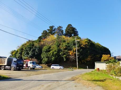 8・南東から稚櫻神社を見る