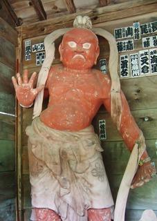 吽形・金剛力士像(左)
