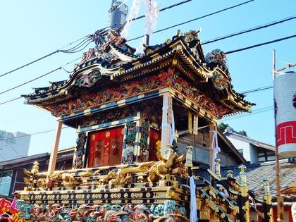 2・宮殿風造りの中近笠鉾