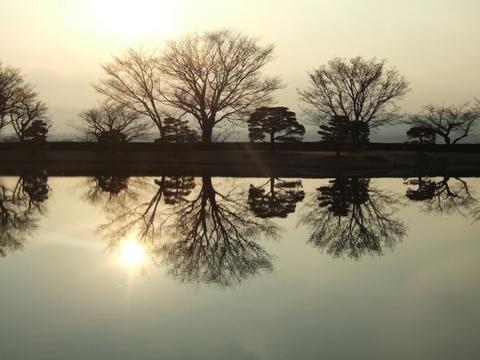 夕日に映える西浜