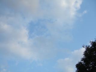 開演前の空、雲が速い