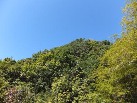 大滝頭上の秋空