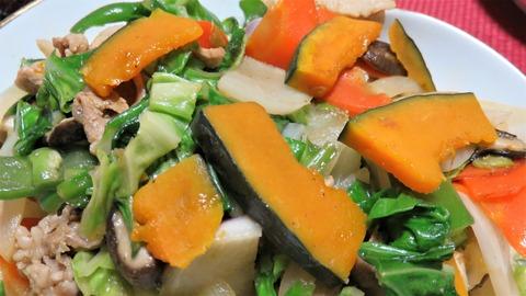 冬至の野菜炒め