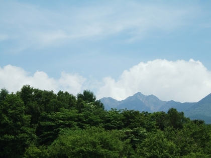 八ヶ岳高原ラインから望む山並