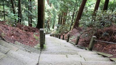 26・常燈堂下から400段の石段を見下ろす