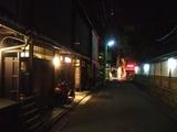 灯の落ちた町屋通り