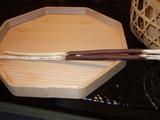 野趣あふれる栗箸