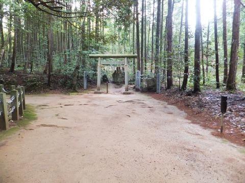 本殿を囲む真名井原神体山