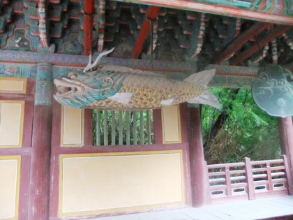 仏国寺・魚板と雲板