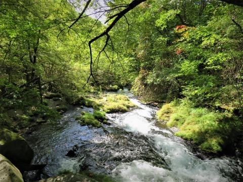 �大滝から流れる小川