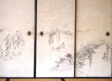 虎渓三笑の襖絵