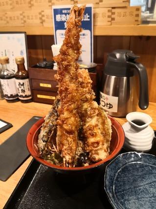 【大海老天丼】天ぷら海鮮 米福 四条烏丸店【中京区四条烏丸】