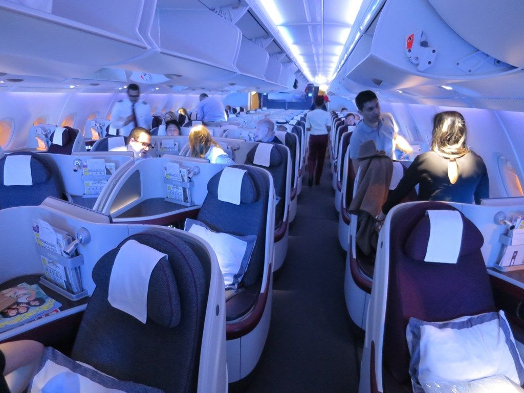 ケチのケチによるケチな旅行  カタール航空 A380-800 ビジネスクラス座席についてコメント
