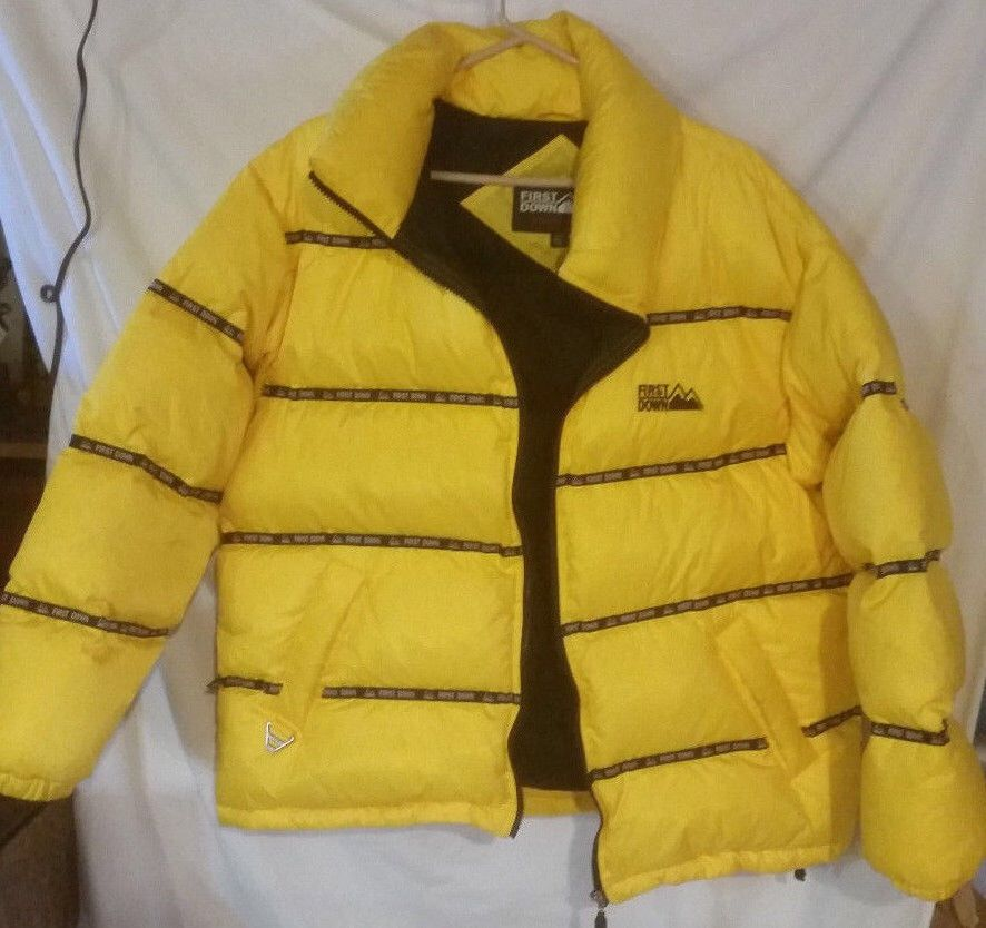 ������logo tape puffy jacket ������first down����