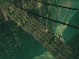 スネーク 吊り橋で戦闘