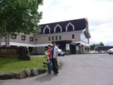 菅平のホテル前
