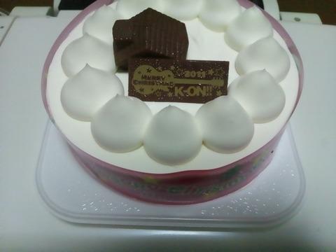 けいおんクリスマスケーキ