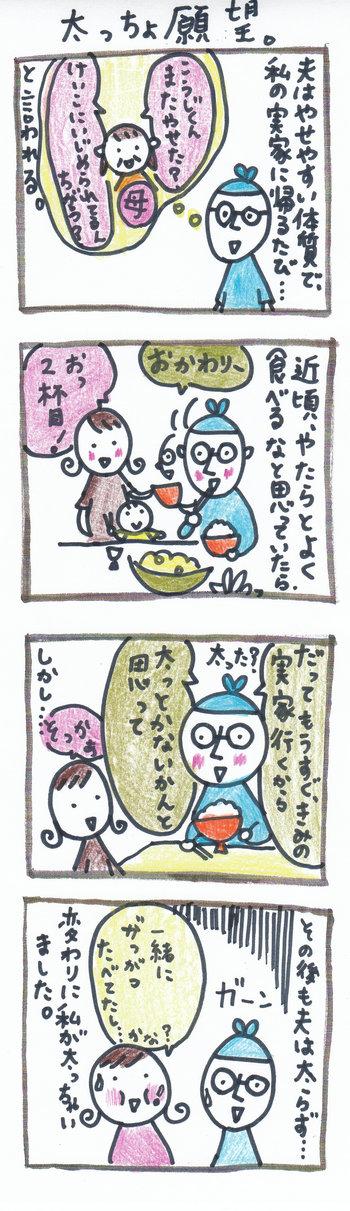 """田舎暮らし&子育て四コマ""""ぽっちり堂""""のブログ-寒い日の店番"""
