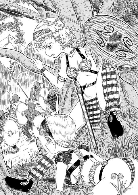 エルフの女戦士小