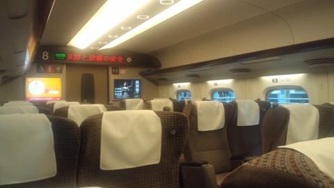 N700のぞみグリーン席2
