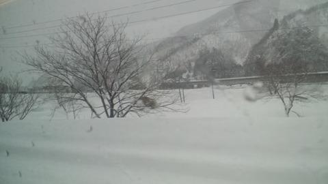 雪の上越線1