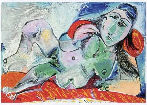 1968ピカソ「首飾りをした裸婦」