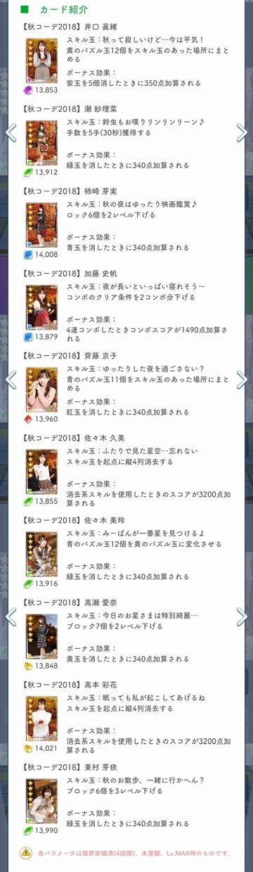 00 秋コーデ2018 ガチャ詳細(3)