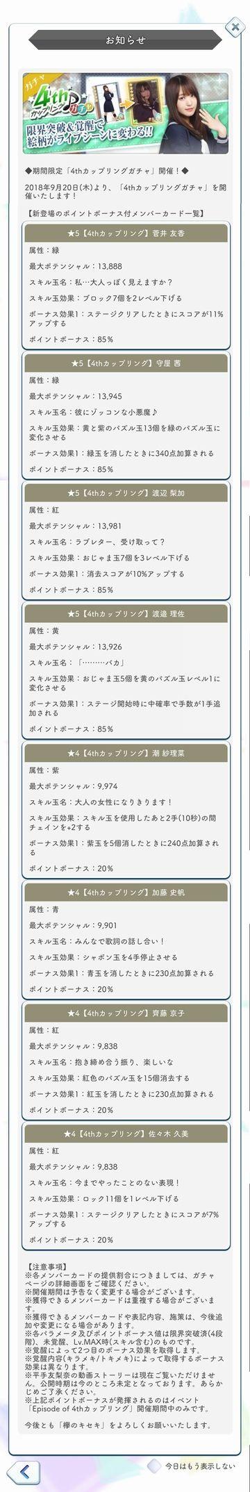 00 4thCW ガチャ詳細