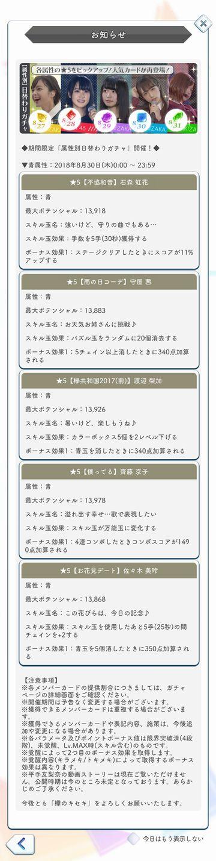 00 【属性別】日替わりガチャ 詳細(青)
