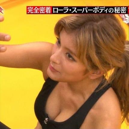 テレビで放送しちゃった、芸能人たちの胸チラしてるハプニング