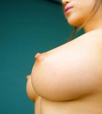 重力にも屈せず乳房の重みにも負けず、美しいフォルムを維持しているオッパイ