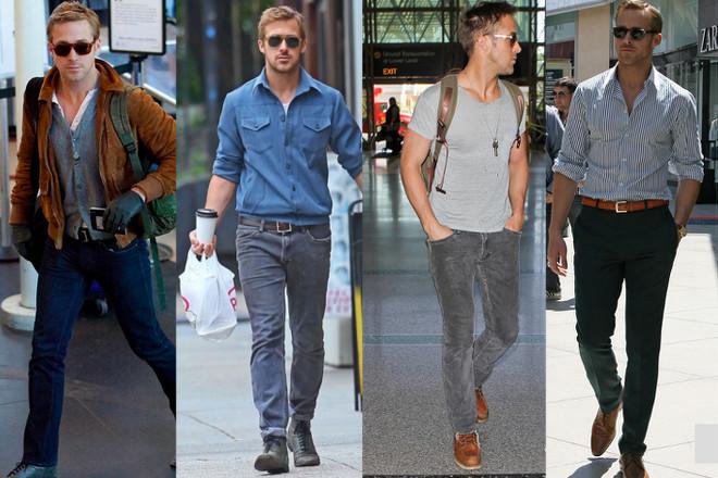 僕がLAファッションのお手本に良いと思うのは写真の彼です! 彼の名は Ryan Gosling (ライアン ゴズリング) 有名な俳優さんです。