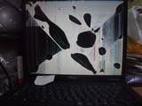 破壊されたノートパソコン