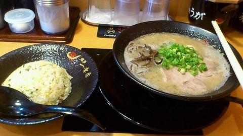 博多 一幸舎 太宰府インター店 ラーメン+チャーハン