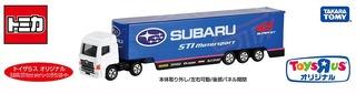 トイザらス限定 ロングトミカ SUBARU STI MOTORSPORT レーシングトランスポーター