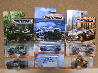 CAMO TRUCKS MATCHBOX
