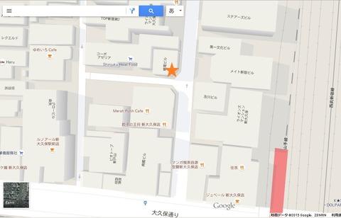 新宿八百屋 地図