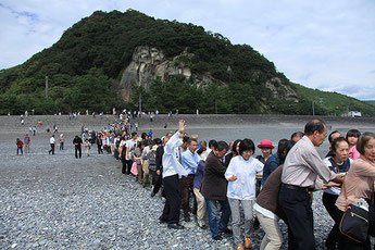 "Every year October 2 ""cave Shrine fall of flower big festival"" (Kumano-shi)"