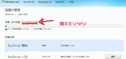 容量の管理 - Windows Live-172433
