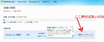 容量の管理 - Windows Live-172203