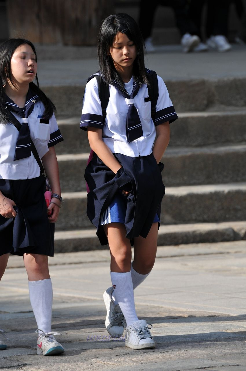 街撮り 女子 小学生