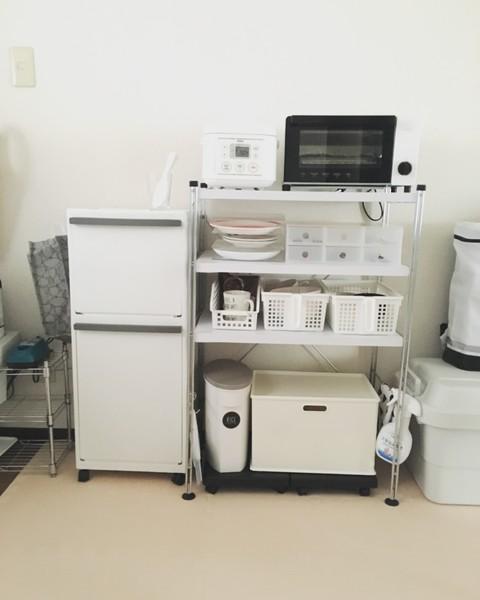娘と二人暮らしなので普段使う食器はここに収まる分だけです。