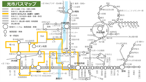 ぐるりんバス_路線図
