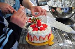 クリスマスケーキ教室里の厨_025