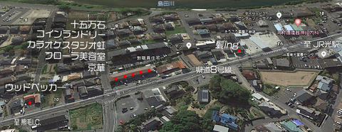 三井地区商業区map