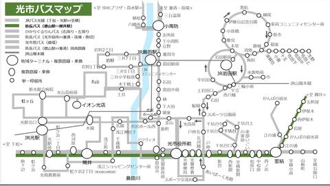 防長バス室積線_路線図